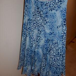 XL Sheer Lined Dressy Skirt